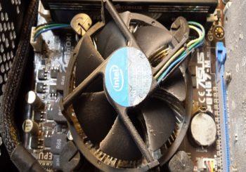 CPU vervuild door Stof