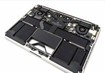 Binnen kant van een computer kast